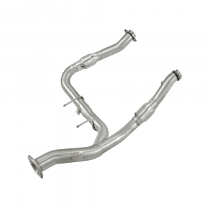 """aFe Power 3"""" to 3-1/2"""" Aluminized Street Series Twisted Steel Y-Pipe Exhaust System for 2011-2014 Ford F-150 EcoBoost 3.5L 