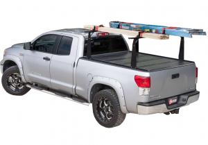 "BAK - BAK Flip CS/F1 Tonneau Cover with Rack 72307BT | 2004-2014 FORD F150 w/o OE track system 6' 6"" Bed"
