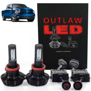 Outlaw Lights - Outlaw Lights LED Headlight Kit | 2006-2012 Dodge Ram w/4 Head Lamps Low Beams | H11