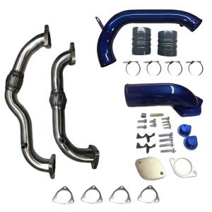 Outlaw Diesel - Outlaw Diesel EGR Cooler Delete, Up Pipe & Cold Side Intercooler Pipe Combo Kit | 2008-2010 6.4L Ford Powerstroke