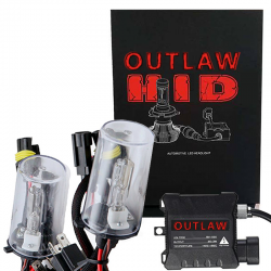 Outlaw Lights - Outlaw Lights 35/55w Single Beam HID Headlight / Fog Light Kit | H7