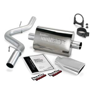 Banks Power Monster Exhaust System w/Chrome Tip | 1997-1999 Jeep Wrangler TJ 2.5/4.0L | Dale's Super Store
