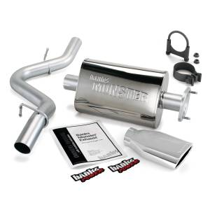 Banks Power Monster Exhaust System w/Chrome Tip | 2000-2003 Jeep Wrangler TJ 2.5/4.0L | Dale's Super Store
