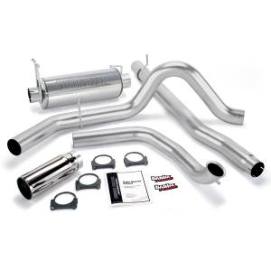 Banks Power Monster Exhaust System w/Chrome Tip | 2001-2003 Ford Powerstroke 7.3L (Manual w/Catalytic Converter) | Dale's Super Store