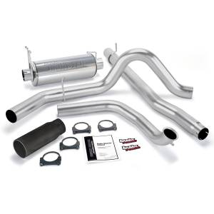 Banks Power Monster Exhaust System w/Black Tip | 2001-2003 Ford Powerstroke 7.3L (Manual w/Catalytic Converter) | Dale's Super Store