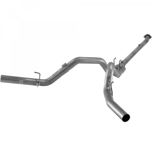 "Flo~Pro 4"" Stainless Downpipe Back Dual Exhaust no/Muffler 