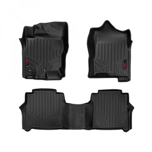 Rough Country Heavy Duty Floor Mats | 2005-2018 Nissan Frontier Crew Cab 2WD/4WD | Dale's Super Store