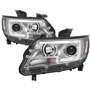 Spyder® Chrome LED DRL Bar Projector Headlights | 2015-2017 Chevy Colorado | Dale's Super Store
