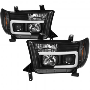 Spyder Black LED DRL Bar Projector Headlights | 2007-2013 Toyota Tundra/Sequoia | Dale's Super Store