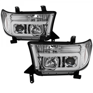 Spyder Chrome LED DRL Bar Projector Headlights | 2007-2013 Toyota Tundra/Sequoia | Dale's Super Store