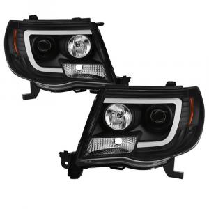 Spyder Black LED DRL Bar Projector Headlights   2005-2011 Toyota Tacoma   Dale's Super Store