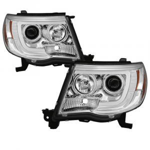 Spyder Chrome LED DRL Bar Projector Headlights   2005-2011 Toyota Tacoma   Dale's Super Store