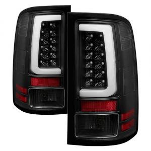 Spyder Black Fiber Optic LED Tail Lights | 2007-2014 GMC Sierra | Dale's Super Store