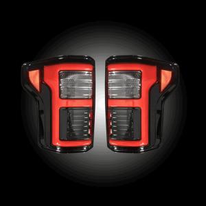 RECON Black/Smoke Fiber Optic LED Tail Lights | 2015-2017 Ford F-150 | Dale's Super Store