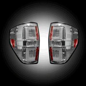 RECON Clear Fiber Optic LED Tail Lights | 2009-2014 Ford F-150 | Dale's Super Store