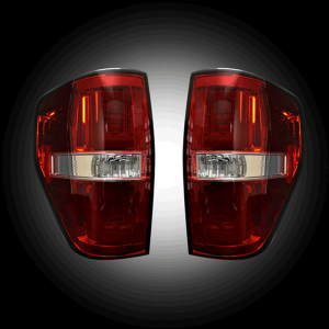 RECON Red Fiber Optic LED Tail Lights | 2009-2014 Ford F-150 | Dale's Super Store