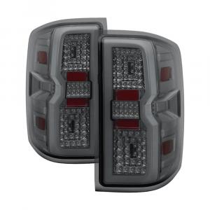 Spyder Chrome/Smoke Fiber Optic LED Tail Lights | 2015-2018 Chevy Silverado/GMC Sierra