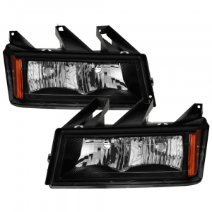 Spyder Black Factory Style Headlights | 2004-2012 Chevy Colorado/GMC Canyon | Dale's Super Store