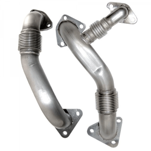 PPE Replacement High Flow Up Pipes (OEM Length) | 2002-2004 Chevy/GMC Duramax LB7 6.6L | Dale's Super Store