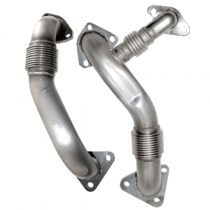 PPE Replacement High Flow Up Pipes (OEM Length) | 2004.5-2005 Chevy/GMC Duramax LLY 6.6L | Dale's Super Store
