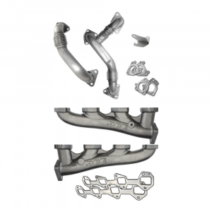 PPE High Flow Exhaust Manifolds & Up Pipes Kit | 2007.5-2010 Chevy/GMC Duramax?LMM 6.6L | Dale's Super Store