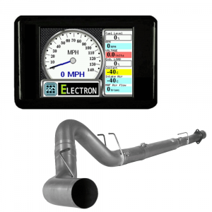 """GearBoxZ Electron Race Tuner & Monitor & 4"""" Downpipe Back w/No Muffler 