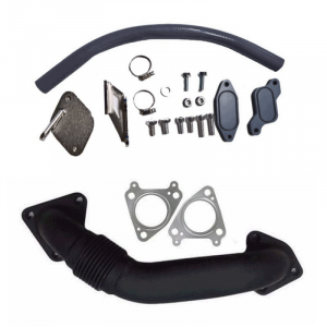 XDR EGR Delete Kit w/High Flow Intake Tube & Passenger Side Up-Pipe   2006-2007 Chevy/GMC Duramax LBZ 6.6L   Dale's Super Store