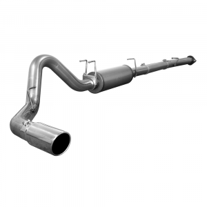 "aFe Power Large Bore-HD 4"" Stainless Downpipe Back w/Muffler 