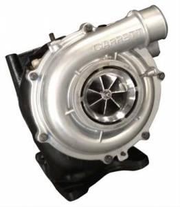 Fleece Performance - Fleece Performance 63MM VNT Cheetah Turbo w/ HX40 Outlet | FPE-VNT63-BW-HX40 | 2004-2010 GM Duramax 6.6L
