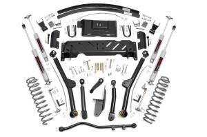 "Rough Country - Rough Country 4.5"" Long Arm Suspension Lift Kit w/ Add-A-Leaf 