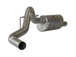 "Flo~Pro 4"" Aluminized CAT Back w/Muffler 