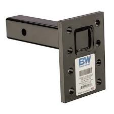 "B&W Hitches - B&W Trailer Hitches 16K Pintle Mount 8 Hole 3 Position 9"" Shank 
