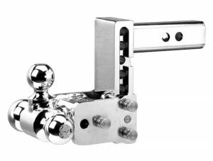 "B&W Hitches - B&W Trailer Hitches Chrome Tow & Stow 6""Model 3"" Drop 3.5"" Rise Tri-Ball 