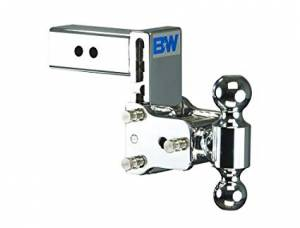 """B&W Hitches - B&W Trailer Hitches Class V 2 1/2"""" Receiver Tow & Stow 8"""" Model 5"""" Drop 5.5"""" Rise 2"""" & 2 5/16"""" Balls (Chrome) 