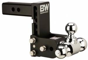 "B&W Hitches - B&W Trailer Hitches Class V 2 1/2"" Receiver Tow & Stow 8"" Model 5"" Drop 5.5"" Rise Tri-Ball 