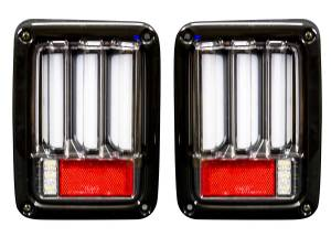 RECON Scanning OLED Bar-Style LED Tail Lights (Clear) | 2007-2017 Jeep Wrangler JK | Dale's Super Store