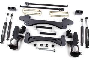 "Zone Offroad - Zone Offroad 6"" Suspension Lift Kit w/ Nitro Shocks 