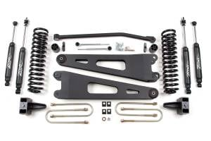 "Zone Offroad - Zone Offroad 4"" Radius Arm Suspension Lift Kit w/ Nitro Shocks 