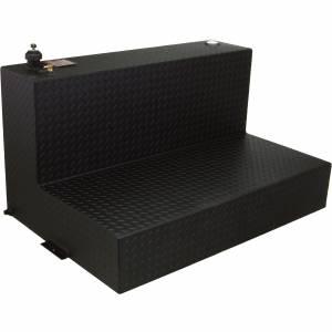RDS Aluminum 95 Gallon L-Shaped Transfer Liquid Tank - Black | RDS70388PC | Universal Fitment | Dale's Super Store