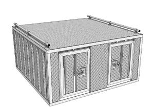 RDS Aluminum - RDS Aluminum Dog Box - Two Door | RDS70863 | Universal Fitment