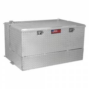 RDS Aluminum - RDS Aluminum 75 Gallon L-Shaped Combo Transfer Liquid Tank-Black   RDS72537   Universal Fitment