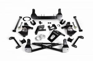"Cognito Motorsports - Cognito Motorsports 7""/9"" Non Torsion Bar Drop Suspension Lift Kit w/ Stabilitrak 2WD   COG110-K0535   2011+ Chevy/GMC Duramax"
