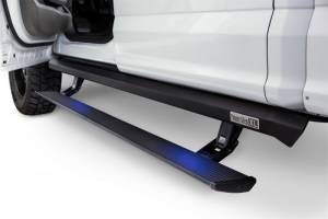 AMP Research - Innovation in Motion - Amp Research PowerStep XL Black Non Plug N Play System - Includes OEM style illuminationRegular & SuperCab requires minor cutting Ford F150 All Cabs 2004 2008