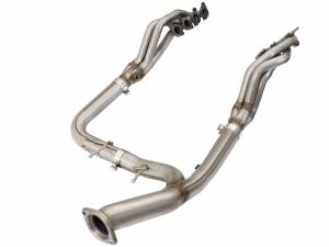 aFe Power - aFe Power Twisted Steel Long Tube Header & Y-Pipe (Race Series) | 48-43015-1YN | 2015-2019 Ford F150 5.0L