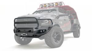 Fab Fours  - Fab Fours Matrix Front Bumper w/ Full Guard (Raw) | DR19-X4450-B | 2010-2019 Chevy HD