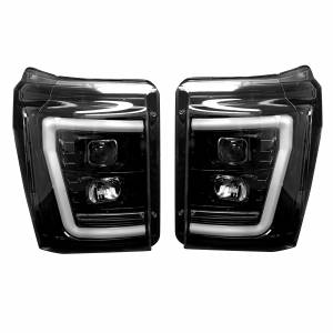 RECON - RECON PROJECTOR HEADLIGHTS w/ OLED DRL & LED Turn Signals | 264272BKCS | 2011-2016 Ford Powerstroke 6.7L