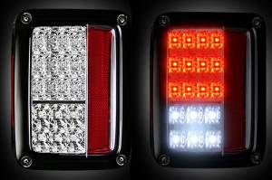 RECON - RECON 264234CL | LED TAIL LIGHTS - CLEAR (2007-2016 JEEP WRANGLER)