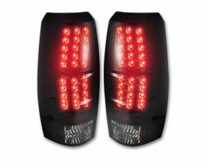 RECON - Recon 264235BK - SMOKED LED Tail Lights For 2007-2013 Chevy Avalanche