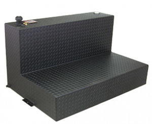 RDS Aluminum - RDS Aluminum 95 Gallon L-Shaped Transfer Liquid Tank - Black | RDS70388PC | Universal Fitment