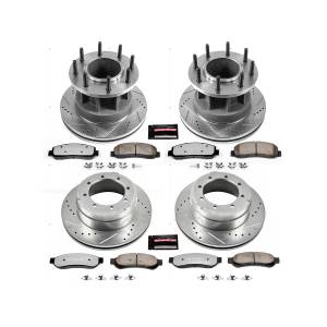 PowerStop - Power Stop Z36 Truck & Tow Front & Rear Brake Kit | PWR-K4032-36 | 2007-2010 Ford F350